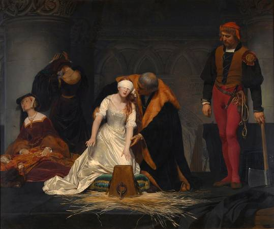 Paul Delaroche,《The Execution of Lady Jane Grey 》,1833。
