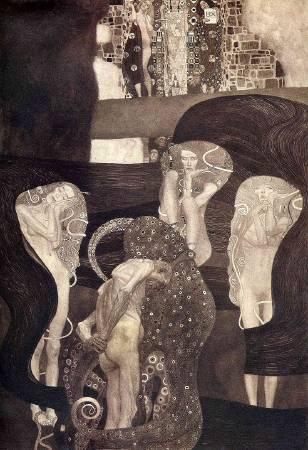 Gustav Klimt,《Jurisprudence》(法學),1907。圖/取自https://commons.wikimedia.org/wiki/File:Klimt_-_Jurisprudenz_1903-1907.jpeg