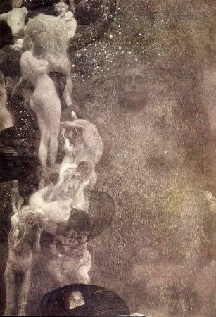 Gustav Klimt,《Philosophy》(哲學),1907。圖/取自https://commons.wikimedia.org/wiki/File:Klimt_-_Philosophie_-_1898-1907.jpeg