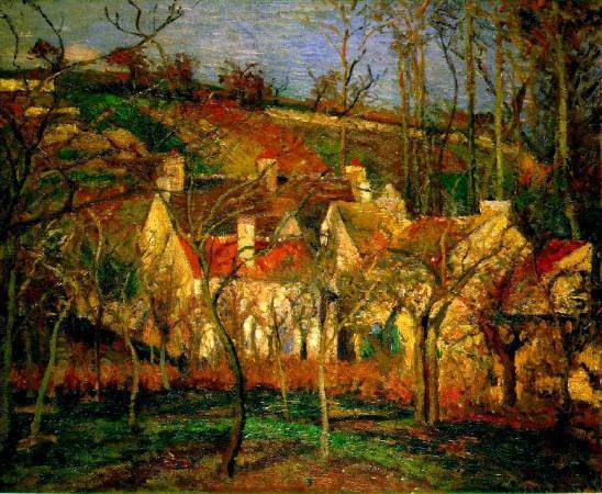 Camille Pissarro,《red roofs》,1877。