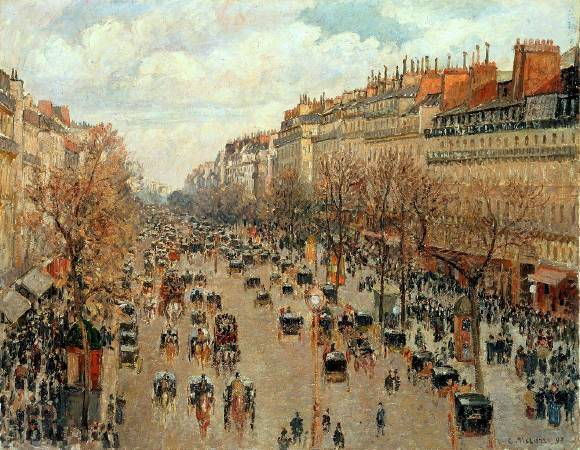 Camille Pissarro,《Boulevard Montmartre Afternoon Sun》,1897。