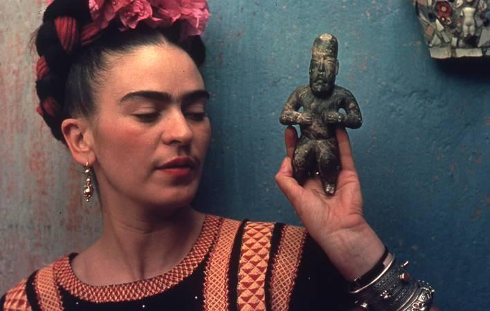 墨西哥女畫家芙烈達.卡蘿。圖取自Doyle New York。