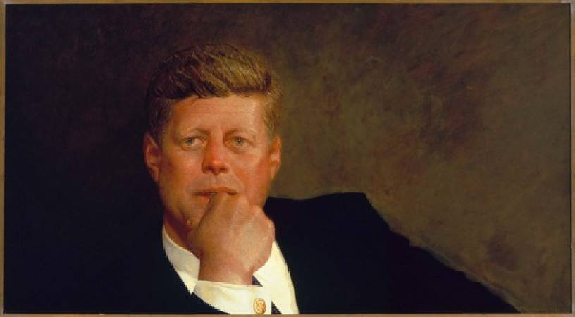Jamie Wyeth,《Portrait of John F. Kennedy》,1967。