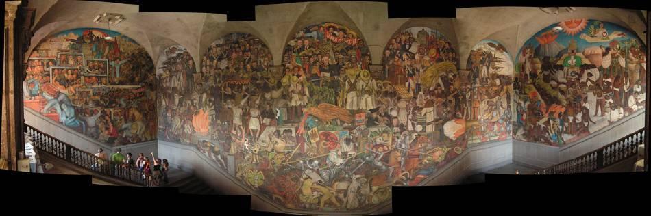 迪亞哥•里維拉《墨西哥的歷史》。