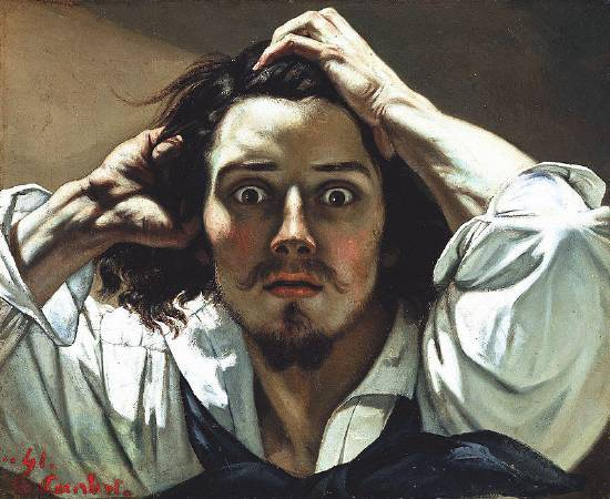 Gustave Courbet,《Self-portrait (The Desperate Man)》,1843-1845。