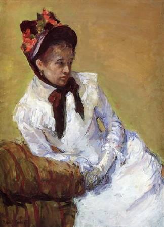 Mary Cassatt,《Portrait Of The Artist》,1878。