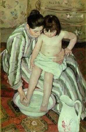 Mary Cassatt,《The bath》, 1893。