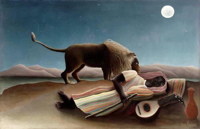 Henri Rousseau,《The Sleeping Gypsy》,1897。