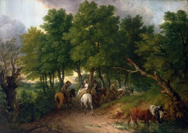 Thomas Gainsborough,《Road from Market》,1767-68。