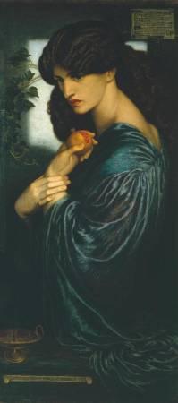 Dante Gabriel Rossetti,《Proserpine》。