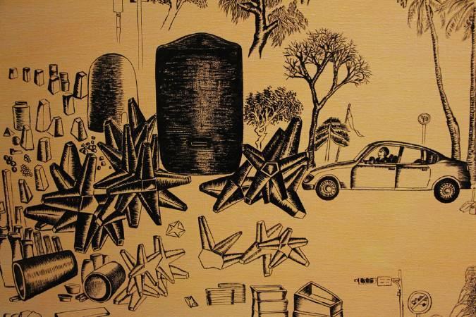 台17線的永安碉堡。圖/非池中藝術網攝。