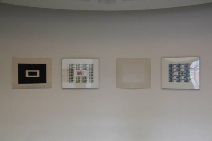 趙陸《佔中間》/《抽象構成練習之向馬勒維奇致敬》。圖/非池中藝術網攝。