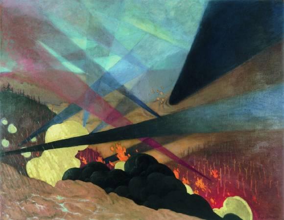 瓦洛東,《凡爾登戰役》,1917。