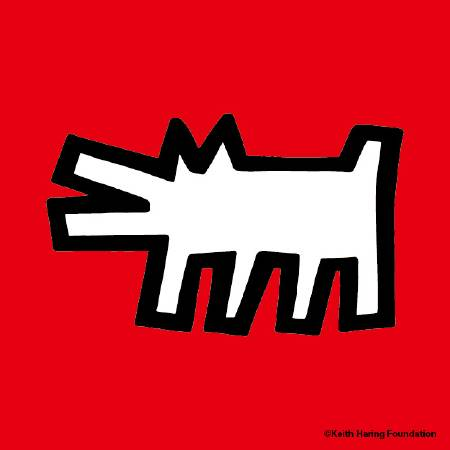 〈咆吠犬〉Icons(Barking dog)。圖/Keith Haring Foundation提供。