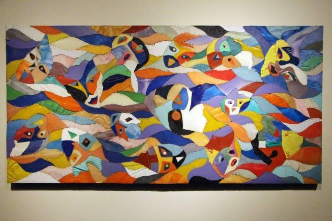 拉黑子《被遺忘的面像》。圖/非池中藝術網攝。