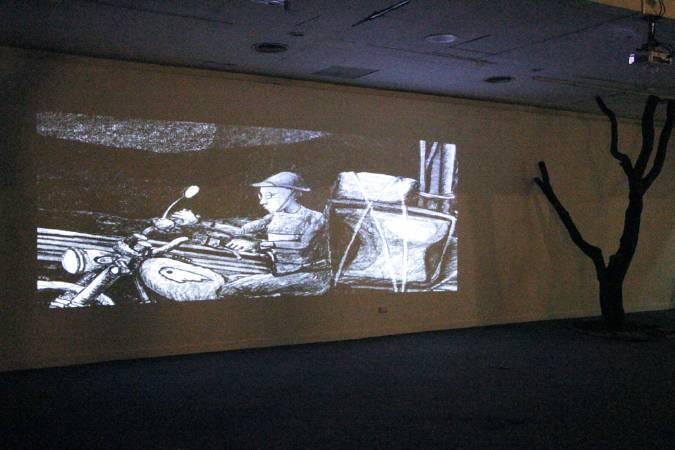 撒古流個展「光的記憶」。圖/非池中藝術網攝。
