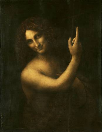 達文西《施洗者聖約翰》。圖/取自Wikipedia。