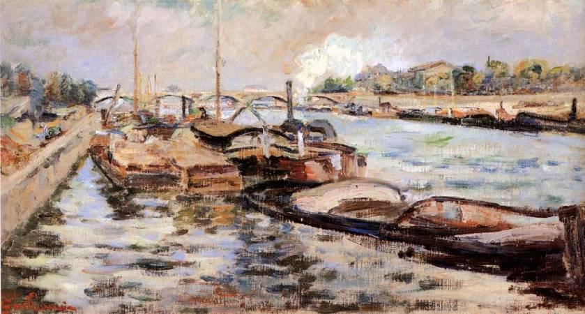 基約曼《塞納河》(The Seine),1868。