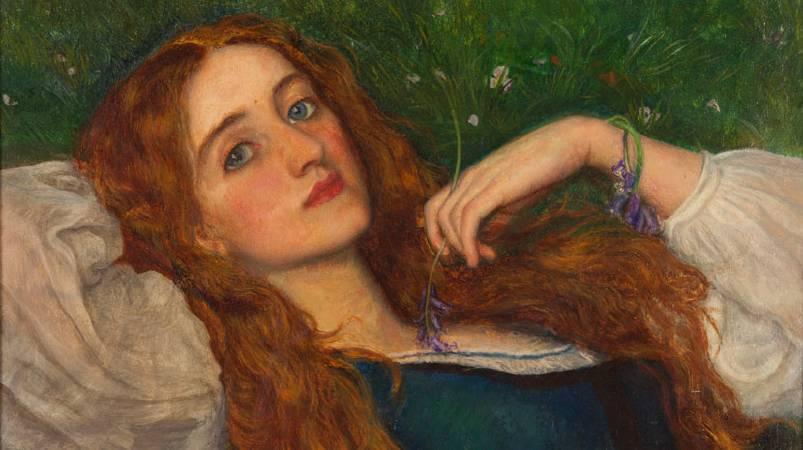 Arthur Hughesui《In The Grass》。圖/取自Walker Art Gallery。