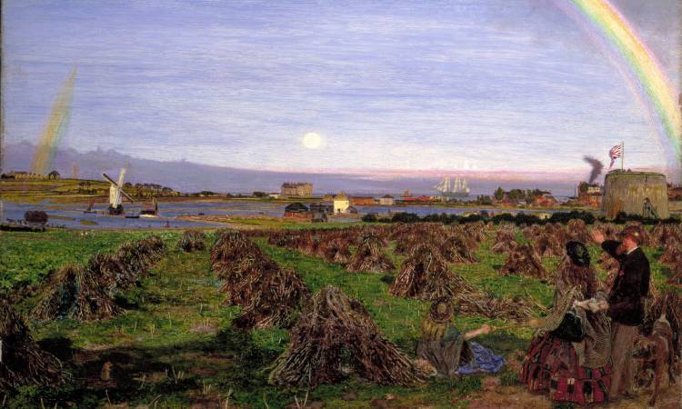 Ford Madox Brown《Walton-on-the-Naze》。圖/取自Guardian。