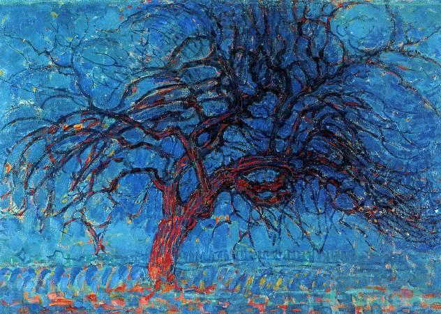 蒙德里安,《紅色的樹》,1910年。