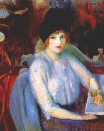 William Glackens,《Cafe Lafayette》,1914。