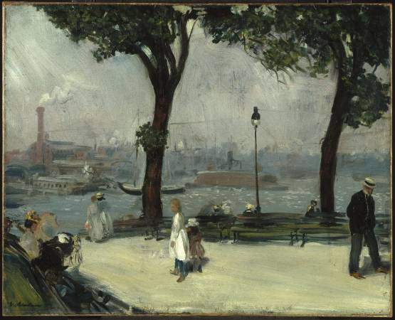 William Glackens,《East River Park》,1902。圖/取自Wikipedia。