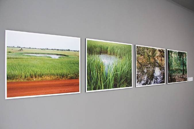 炸彈池塘照片。圖/非池中藝術網攝。