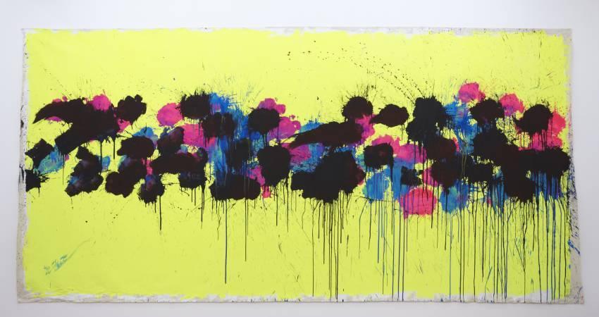 日本藝術家篠原有司男《拳擊畫》。圖/取自Art Basel。