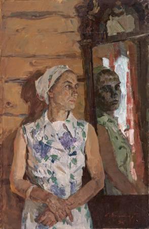葉列梅耶夫,《鏡前妻子》,1985。