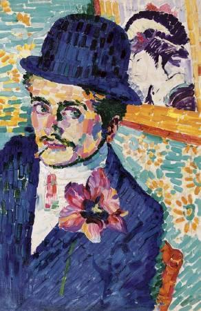 德洛內《Portrait de Jean Metzinger》。圖/取自Wikiart。