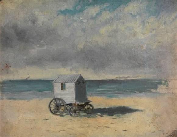 恩索爾,《The Bathing Hut. Afternoon, July 29, 1876》,1876。