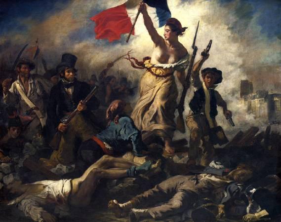 德拉克拉瓦,《領導民眾的自由女神》,1830。圖/取自Wikipedia。