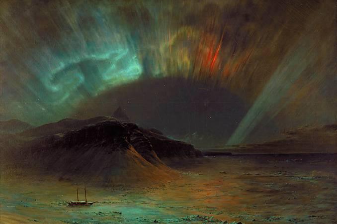 丘奇,《Aurora Borealis》,1865。