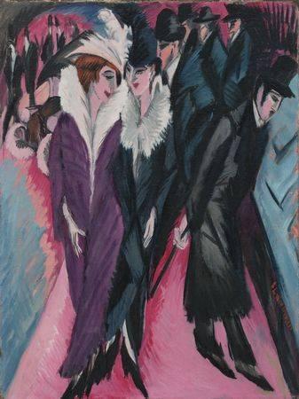 克爾希納,《柏林街道》,1913。圖/取自Wikipedia。