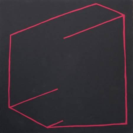 郭旭達,《無題 P01-14》,2014,壓克力顏料 / 畫布,122 x 122 cm