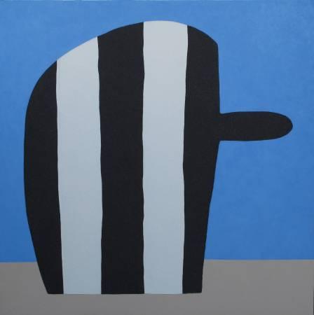 郭旭達,《無題 P01-16》,2016,壓克力顏料 / 畫布,122 × 122 cm