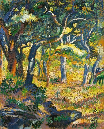 克羅斯,《Une clairière en Provence》,1906。