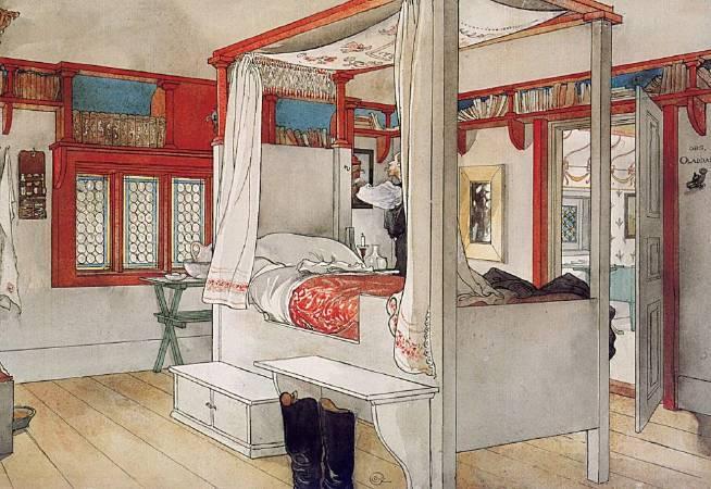 拉森,《父親的房間》,1895。
