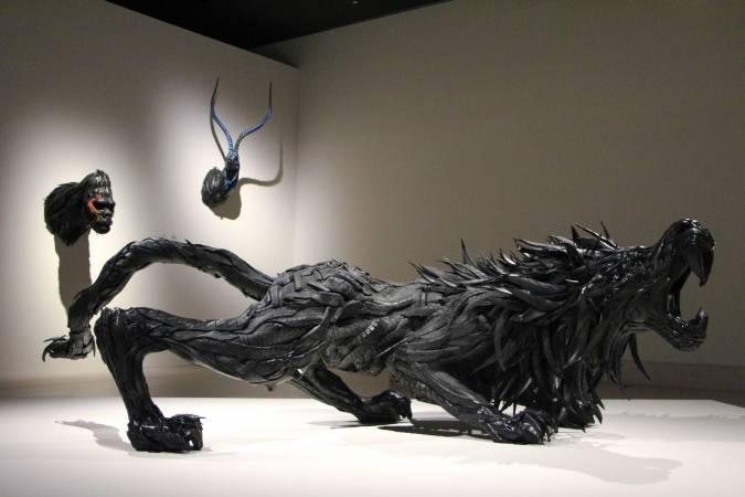 韓國藝術家池龍虎作品。圖/非池中藝術網攝。