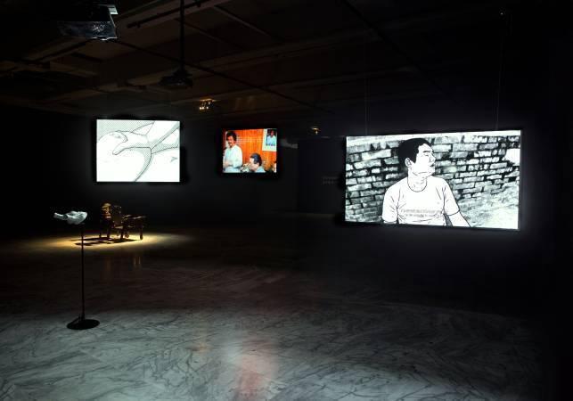 許哲瑜《麥克風試音─許哲瑜個展》。圖/台新藝術基金會提供。