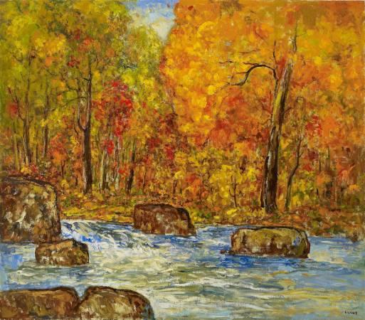 楊三郎 十和田湖之秋 1988 油彩 172x197cm