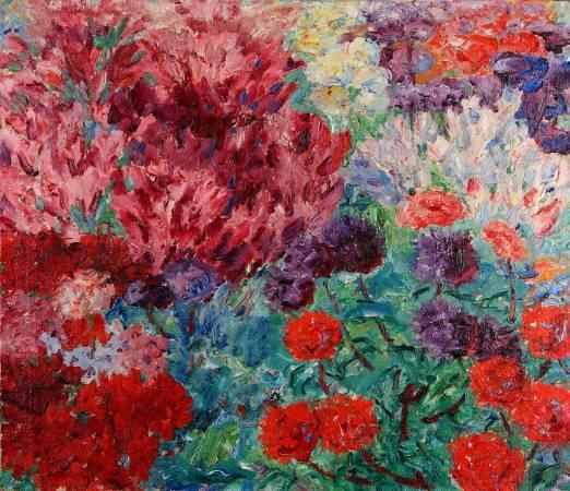 諾爾德,《庭園Blumengarten》,1908年。