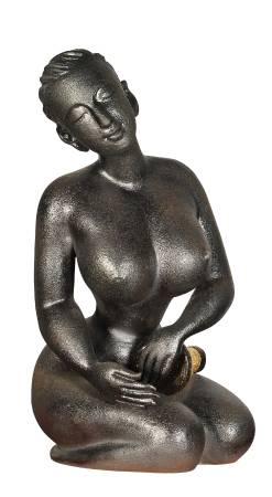 許菊  打非洲鼓少女  2011  39×32×58cm