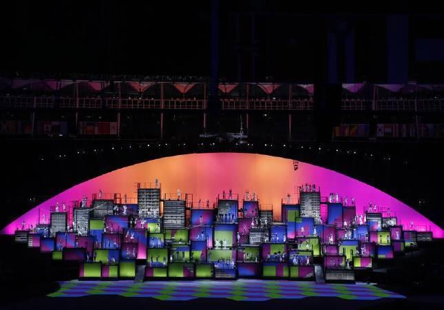 2016里約奧運投影藝術。圖/取自樂視體育。