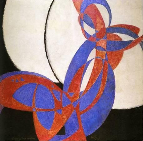 František Kupka《Amorpha, Fugue en deux couleurs》。圖/取自Wikipedia。