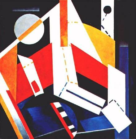 Aleksandra Ekster,《Construction》,1922-1923。圖/取自Wiki Art。