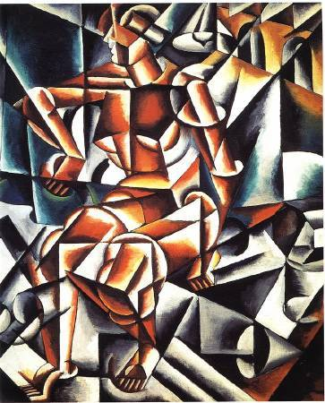 Lyubov Popova,《Air+Man+Space》,1912。。圖/取自Wikipedia。