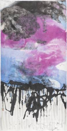 李重重《大地之巔》2016 水墨設色、紙本 188.4×95.2cm (19.9才)
