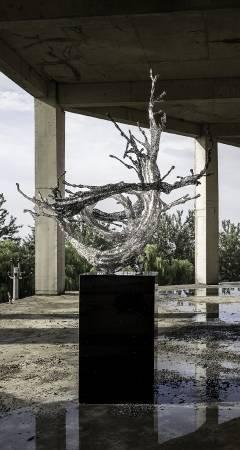 鄭路, 銀河 Galaxy  115 x 143 x 157 cm不鏽鋼 Stainless steel 2015